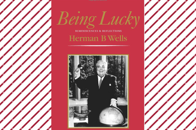 image shows the cover of Being Lucky, a book written by Herman B Wells